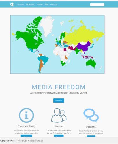 Mapping Media Freedom online abrufbar unter mappingmediafreedom.de